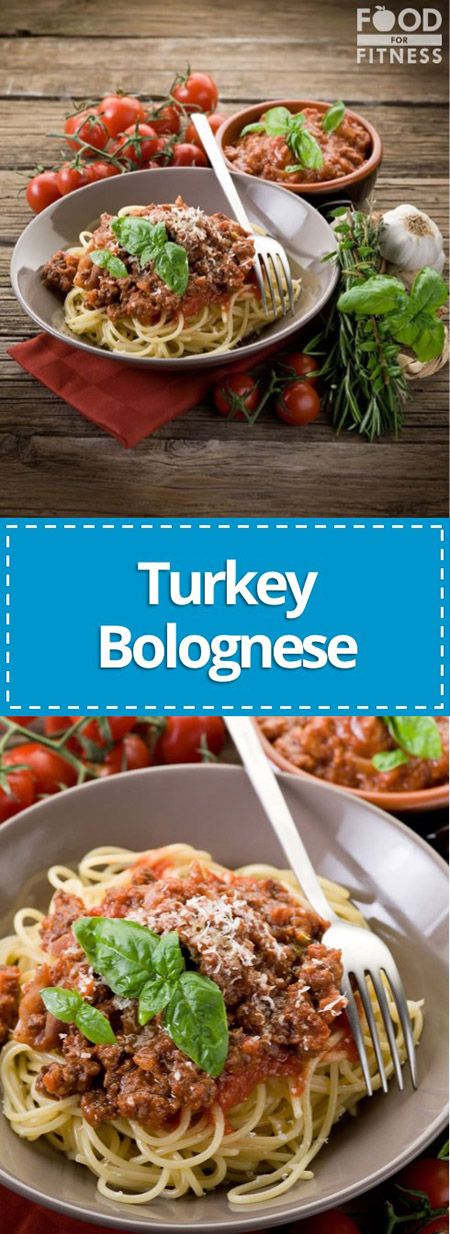 High Protein Turkey Bolognese | A delicious, simply recipe for high protein Turkey Bolognese | FoodForFitness.co.uk