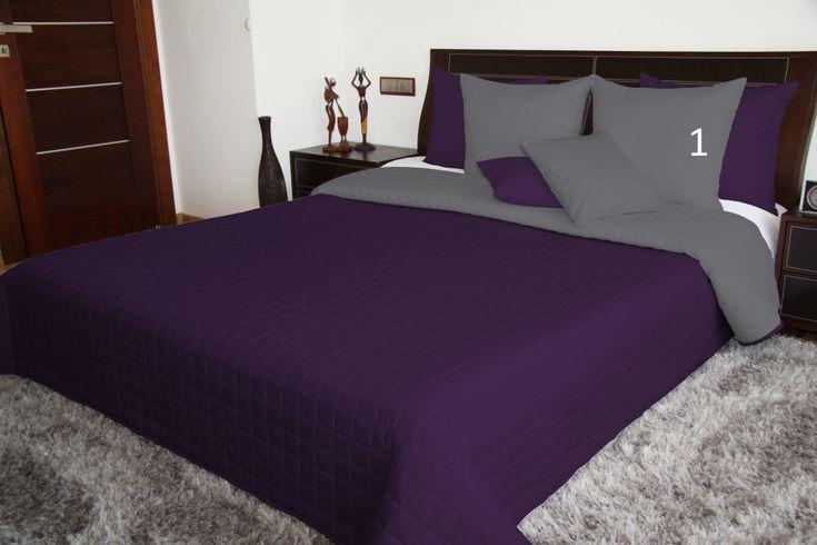 Přehoz na dvojlůžko přes postel fialový