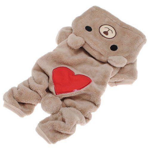 Pet Puppy Dog Love U Red Heart Bear Warm Fleece Hoodie Winter Clothes Jumpsuit Coat Clothes Hooded Coat,Asian size:XL/L/M/S/XS - http://www.thepuppy.org/pet-puppy-dog-love-u-red-heart-bear-warm-fleece-hoodie-winter-clothes-jumpsuit-coat-clothes-hooded-coatasian-sizexllmsxs/