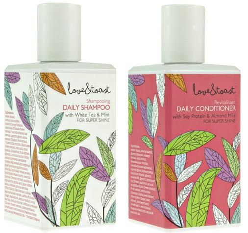 Love this shampoo and conditioner from Love & Toast! The cute rectangular bottles make me happy every time I look at them.