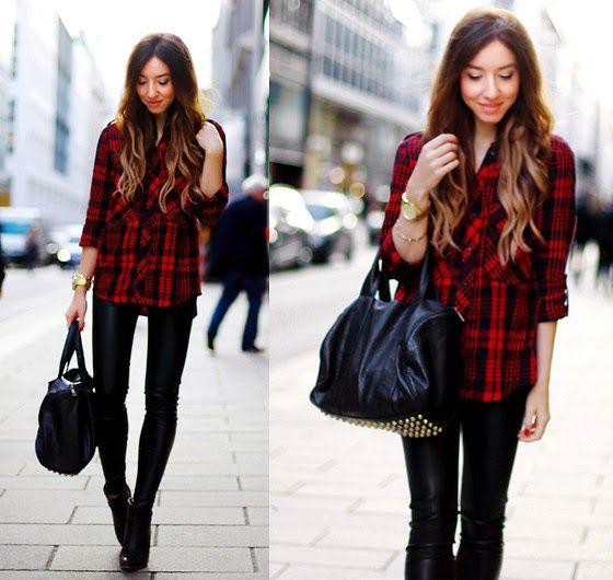 Eu Não tenho Roupa - Primeiro Blog de Moda Curitiba: Como Usar: Tartan Shirt - Camisa Xadrez Vermelha e Preta