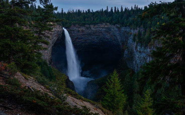 Helmcken Falls night 2 - These falls are a pain to get to about 6 hours from home and there were forest fires all summer near here. Hemlcken Falls are nearly 500 feet high
