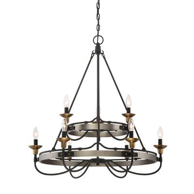 Laurel Foundry Modern Farmhouse Evanston 9 Light Candle-Style Chandelier