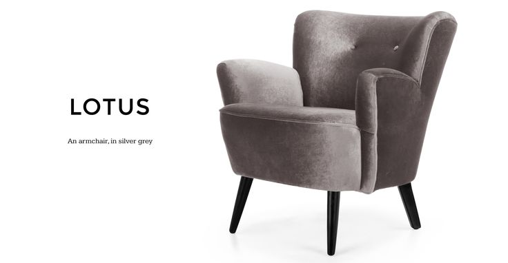 Add a luxurious touch to your living room or bedroom with the Lotus Velvet Armchair.