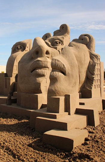 World Championship Sand Sculpting Tournament of Champions, Federal Way, Wash....  Photo editing by Connie Ricca