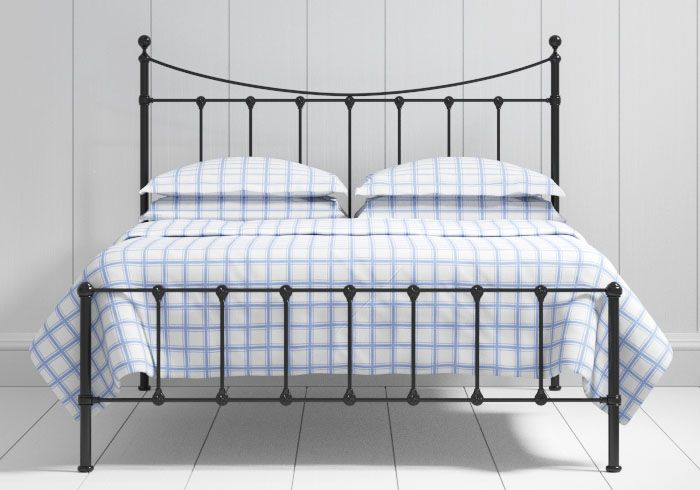 Olivia low footend iron bed in black - 229 gpb