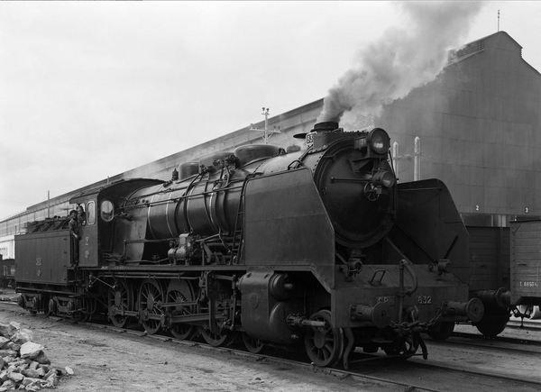 Locomotiva a vapor CP A832 no Barreiro, Portugal  Autoria de Sandro Marcos.