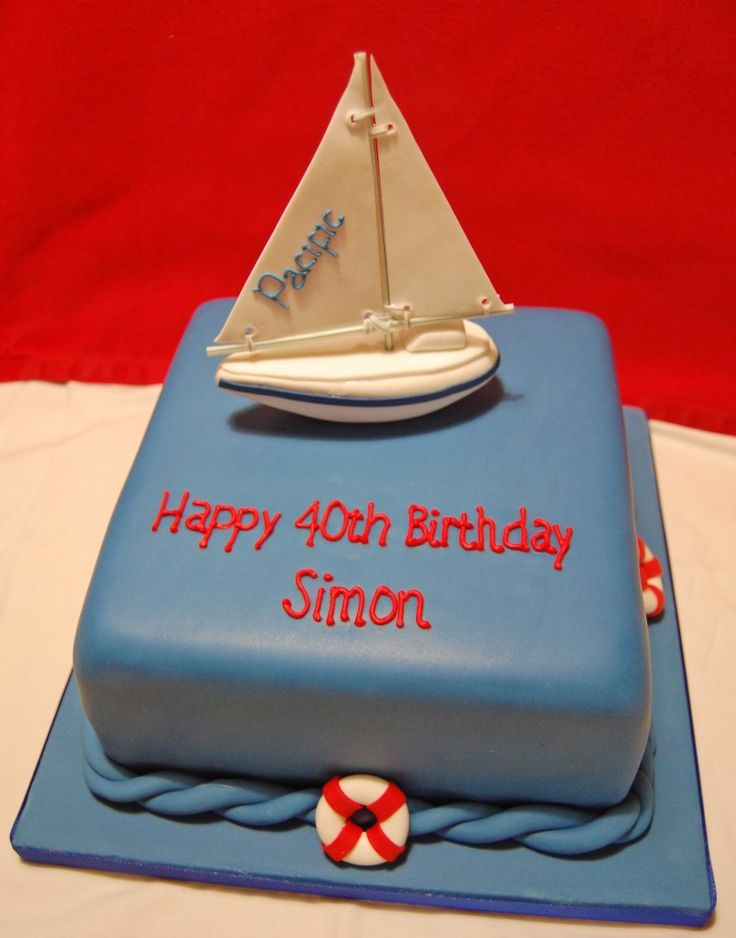 yacht birthday cake