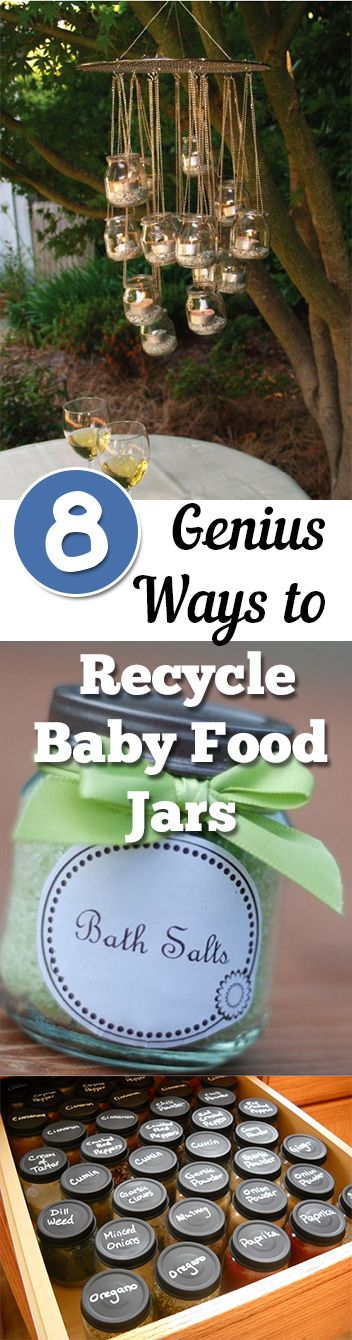 DIY baby food jars, baby food jar upcycle, recycling projects, easy crafts, popular pin, DIY projects, easy DIYs