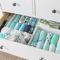 How to organize baby dresser