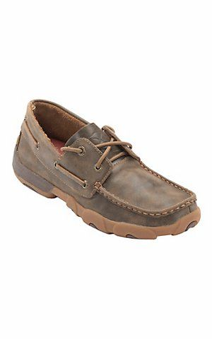 Twisted X® Ladies Bomber Brown Boat Shoe | Cavender's Boot City