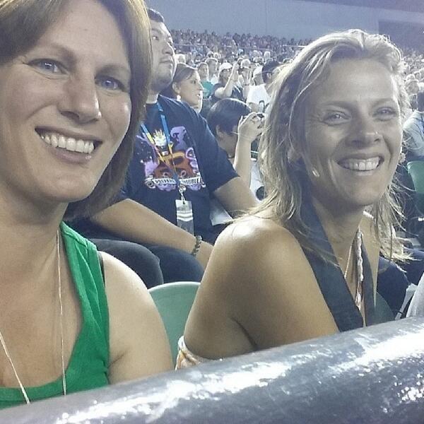 A night at the Australian Open tennis: Federer vs. Tsonga charity match