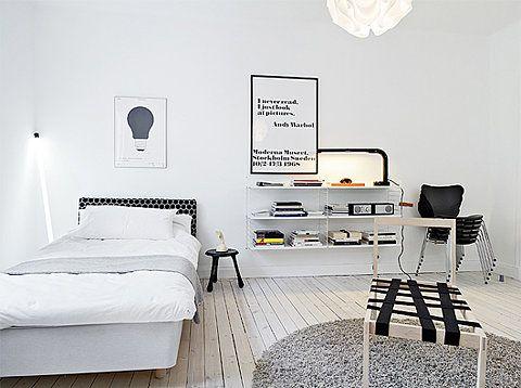 Head boardFloating Shelves, White Spaces, Design Interiors, Cars Girls, White Bedrooms, White Interiors, Girls Style, White Wall, White Room