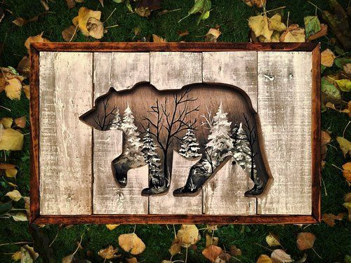 I would like this with a picture of the Smoky Mtns. behind the bear