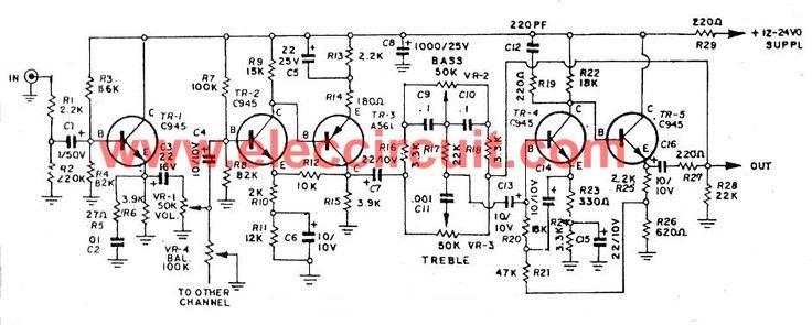 low-noise-tone-control-mono-by-5-transister-2sc945