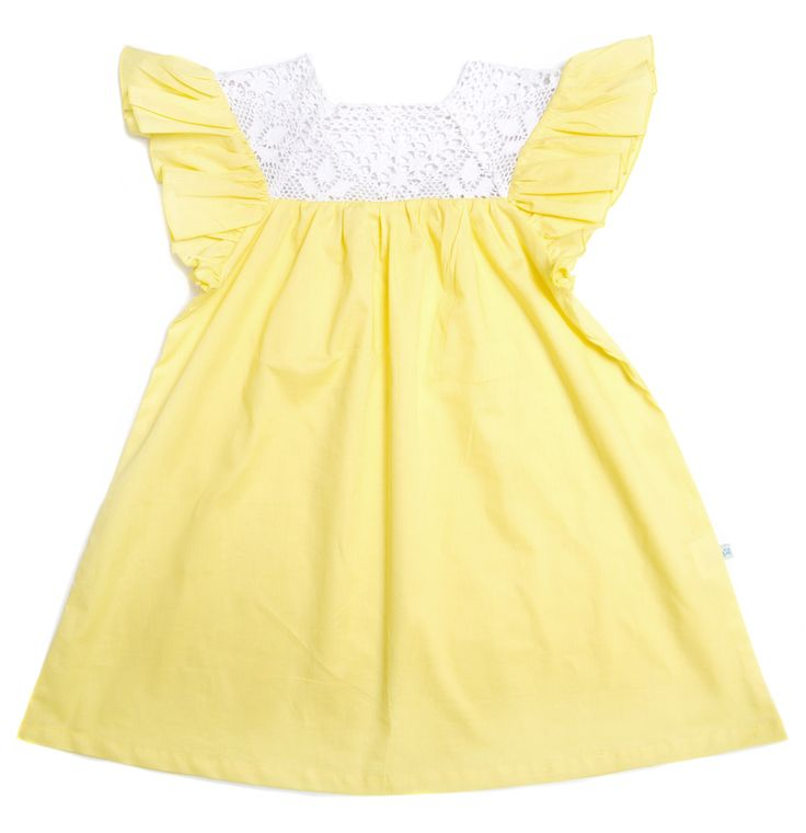 Alex and Ant Butterfly Dress Yellow Size 3 - 8