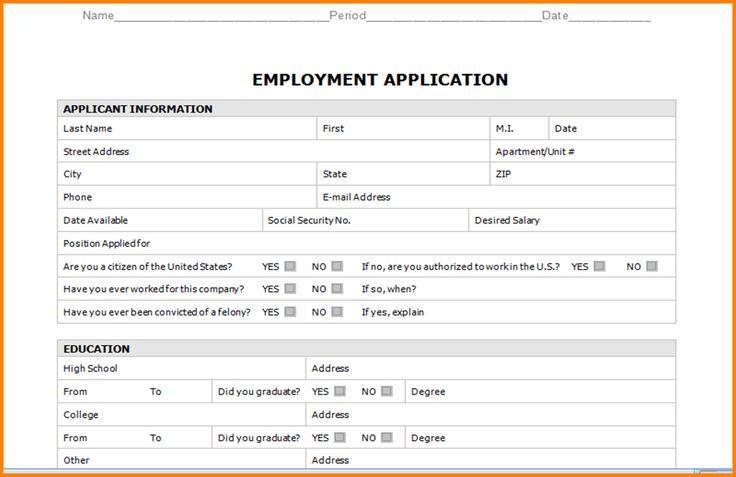 7+ sample of job application form | legal resumed