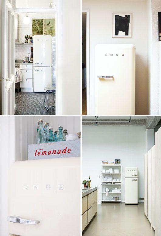 cream smeg fridge freezer