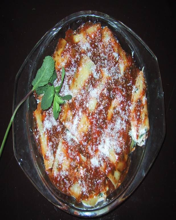 Cannelloni à la brousse et aux épinards