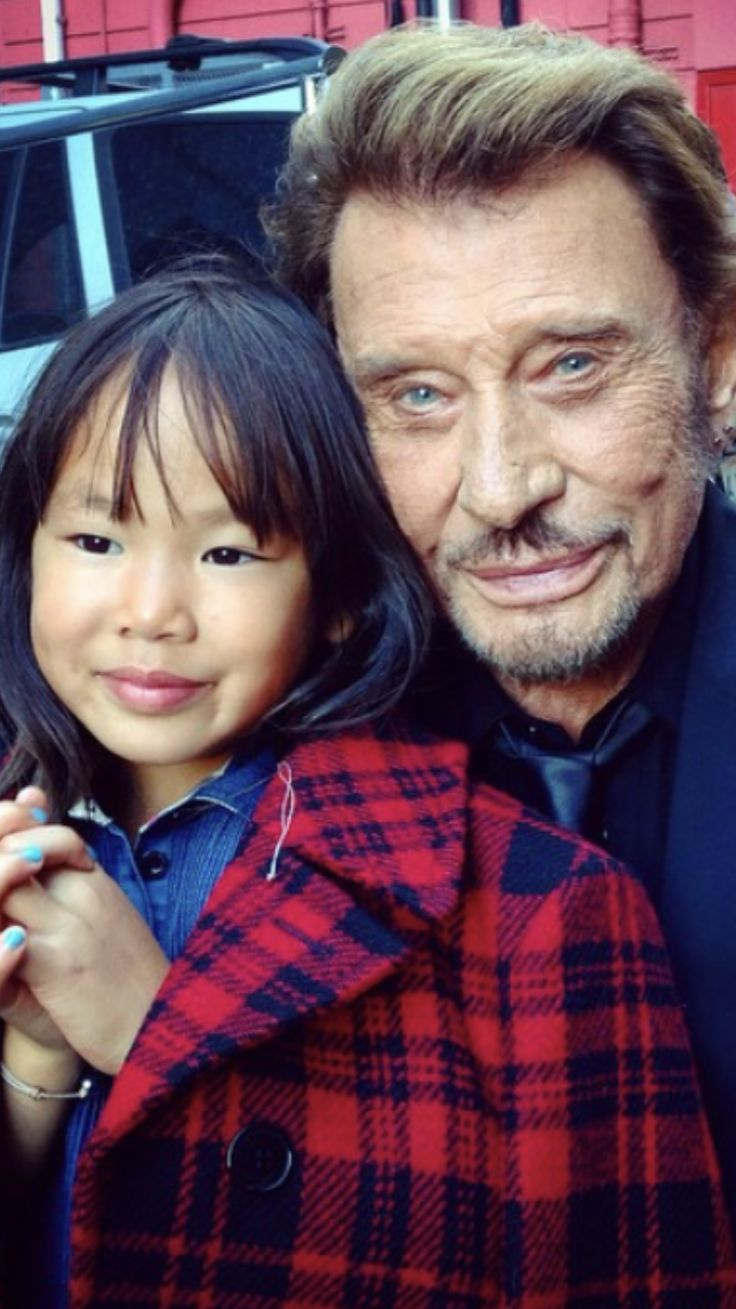 Johnny Hallyday et Joy.