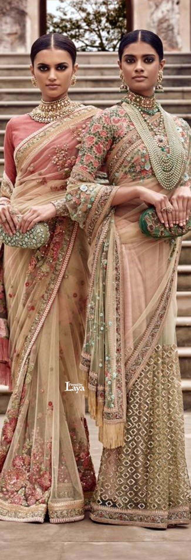 Indian Luxury Sarees | Flower Details | From Sabyasachi Collection | Summer 2016.                                                                                                                                                                                 Plus