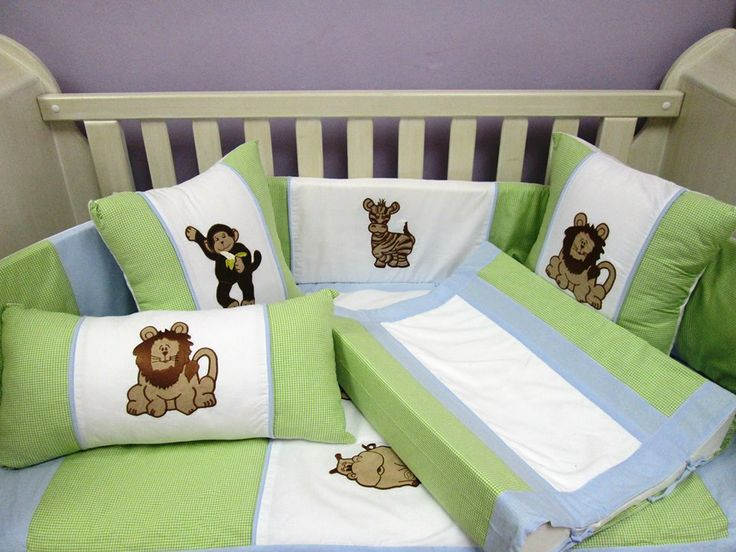 Beautifully designed baby linen - set included bumper, quilt, fitted sheet and mini scatter. Extras:- 40X40 Scatters, change matt and change matt inner also available.  orders@borderboutique.co.za  DOOR TO DOOR DELIVERY WITHIN SA