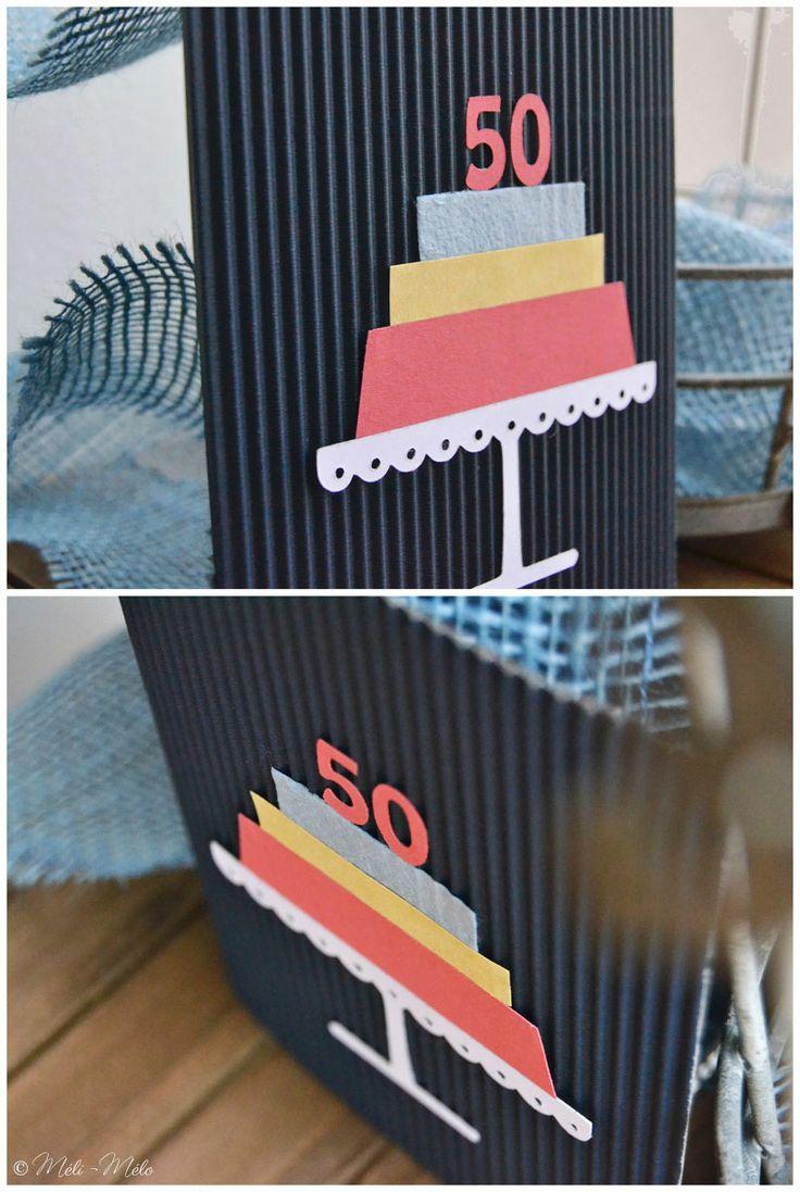 Biglietto per 50° anniversario - Carte pour 50° anniversaire de mariage - 50th Wedding Anniversary by Méli-Mélo | Graphic Design