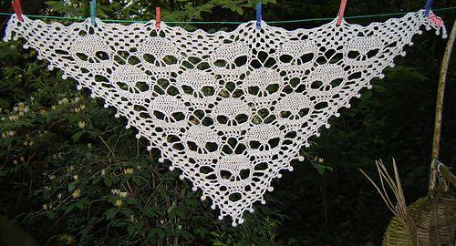 Crochet skull scarf