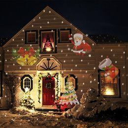 Wholesale Laser Projector Christmas Lights - Christmas Projector Laser Light 12 Replaceable Lens 12 Colorful Patterns Night Light Wedding Fairy Garden Lawn Lamp Landscape Laser Lighting