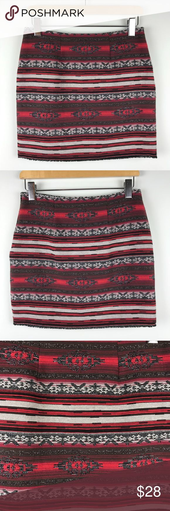 "Fifteen Twenty Aztec Mini Skirt Size 2 This Fifteen Twenty Aztec skirt size 2 is in excellent pre-owned condition. No stains, rips or odors.  ▪️waist laying flat across 14"" ▪️length 15"" Fifteen Twenty Skirts Mini"
