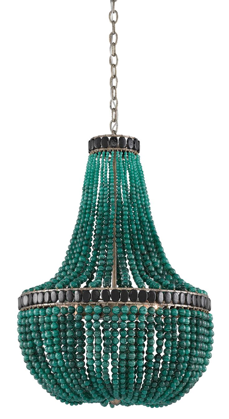 la malaquita chandelier from the marjorie skouras collection by curreyco is adorned with hundreds of