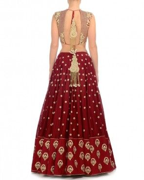 Rosy Red Lehenga Set