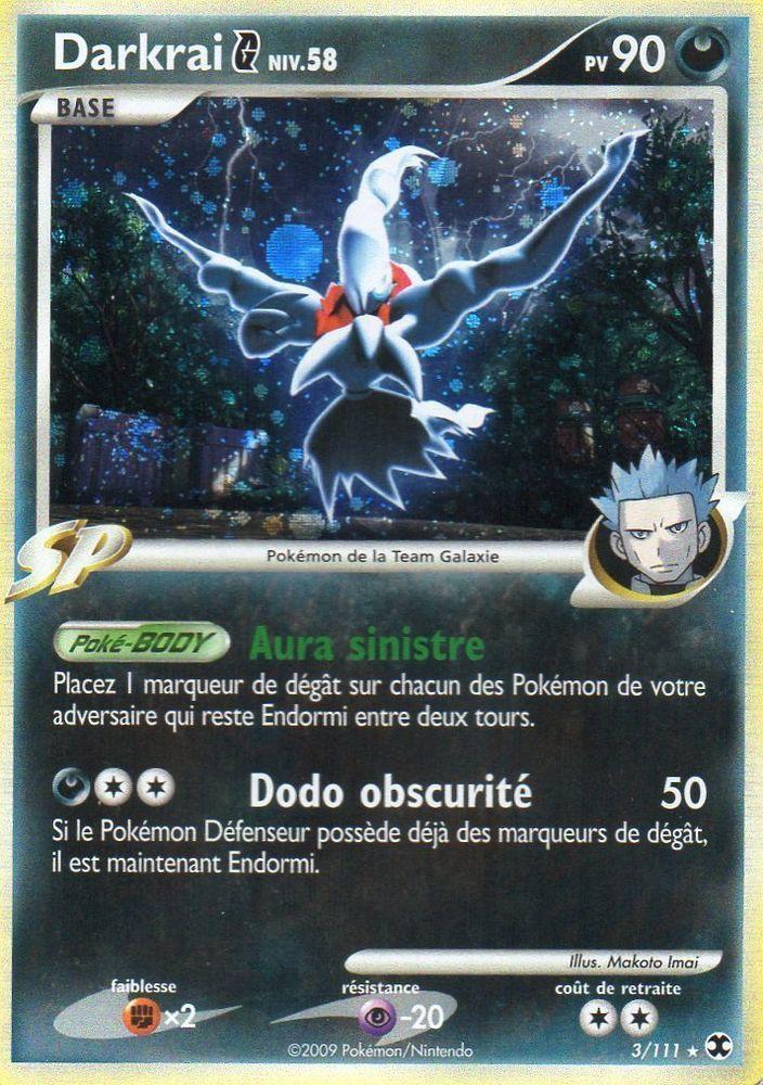 Darkrai - G Niv.58 - 90PV - 3/111 - Pokemon Platine Rivaux Emergeants