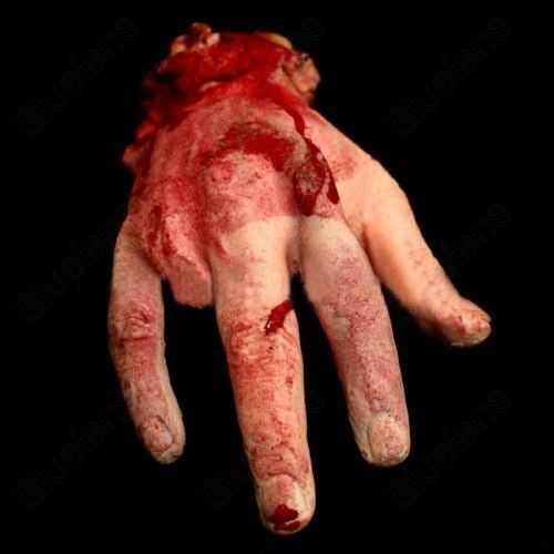 Severed Bloody Hand Novelty Horror Halloween Decoration Prop Party Accessory