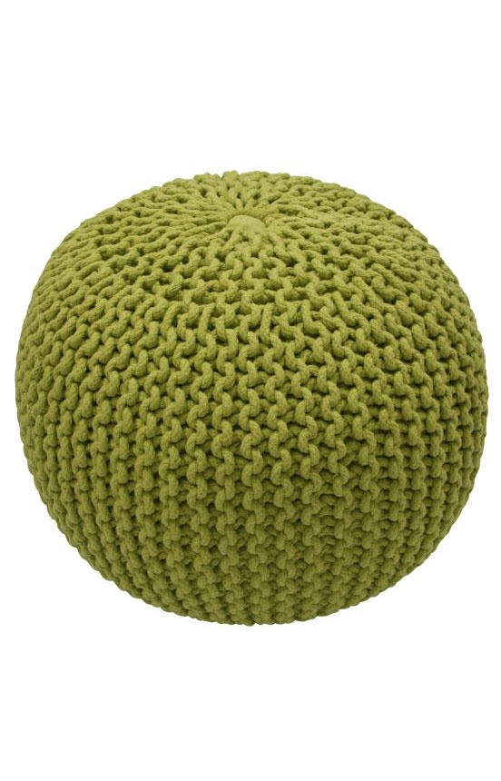 Knitting Pattern For Round Pouf : Rugs USA Poufs Knitted Round Pouf Lime Rugs USA Furniture Pinterest Pum...