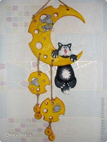 Adorable Swiss-cheese Moon Mobile - inspiration only