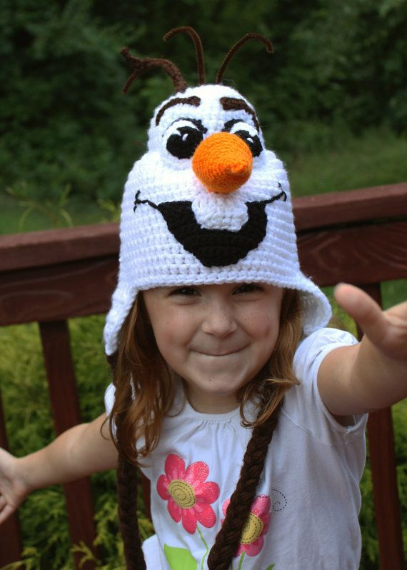Frozen Olaf Costume, Crochet Hat PDF Pattern, Instant Download, Olaf Costume, Frozen crochet Hat Tutorial, Toddler, Child, Adult