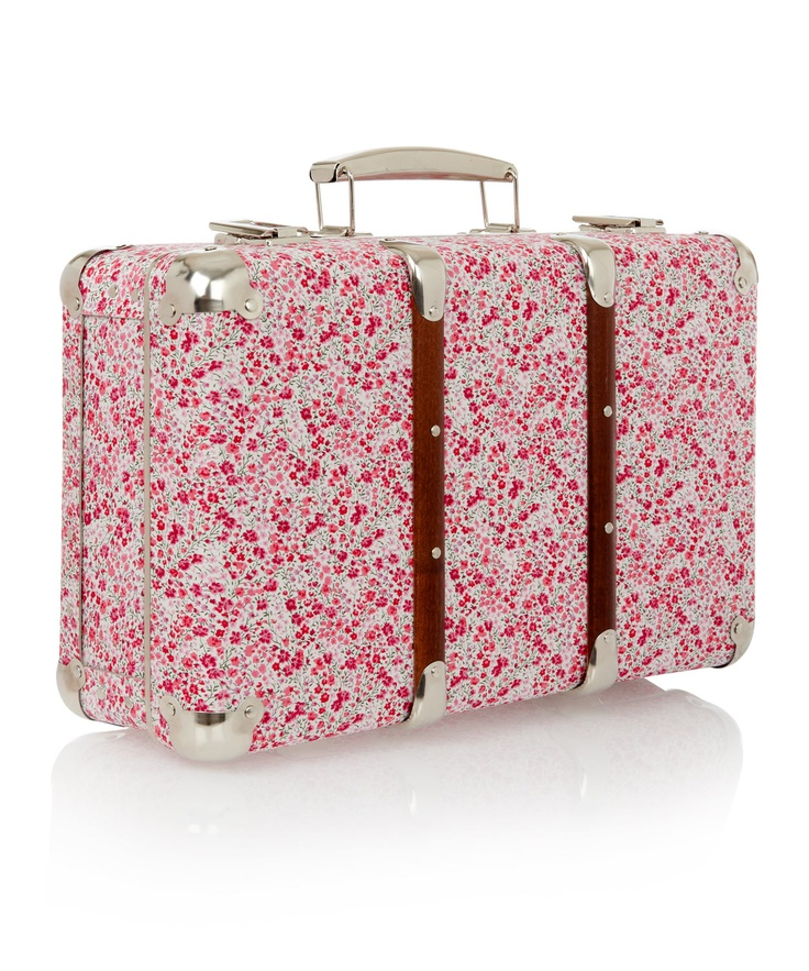 Perfect Valentine's Day storageLiberty Prints, Prints Suitcases, Floral Prints, Things Floral, Suitcases Collection, Miniatures Suitcases, Prints Miniatures, Travel, Phoebe Liberty