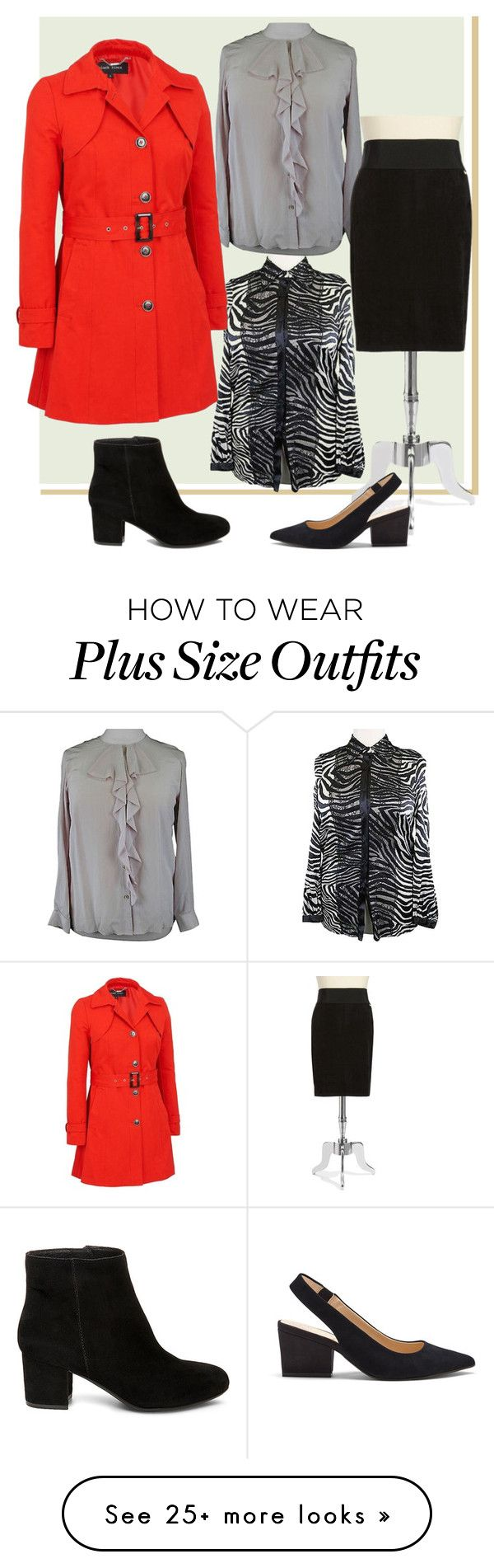 """Plus Size Business Wear"" by dundiddit on Polyvore featuring Marina Rinaldi, Calvin Klein, Sole Society, Steve Madden and plus size clothing"