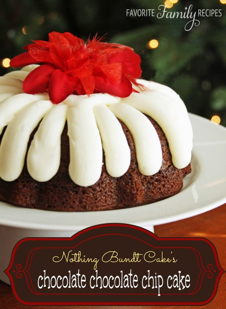 This chocolate chocolate chip Nothing Bundt Cake tastes just what you can get at the shop! #nothingbundtcake #chocolatecakerecipe