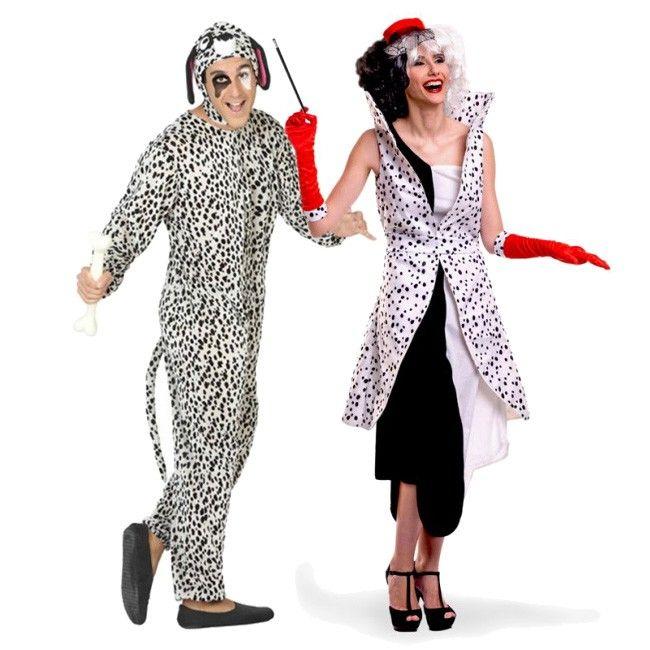 Achetez Déguisements Chien Dalmatien et Cruella de Vil #déguisementscouples #nouveauté2017