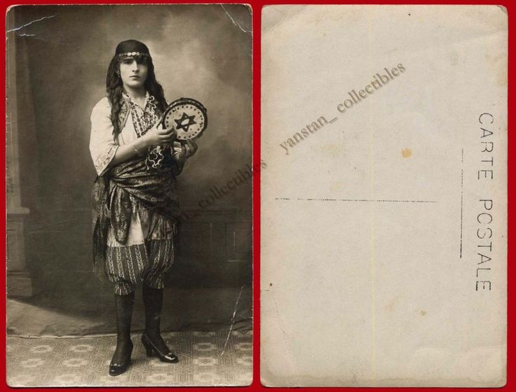 #20379 Greece 1930s. Woman [Jewish garb?]. Photo PC size