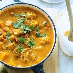 Roasted Cauliflower & Potato Curry Soup - EatingWell.com