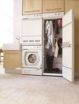 ASKO appliances - stacking laundry units, plus a drying cupboard, which uses high airflow and low heat to dry just about anything...