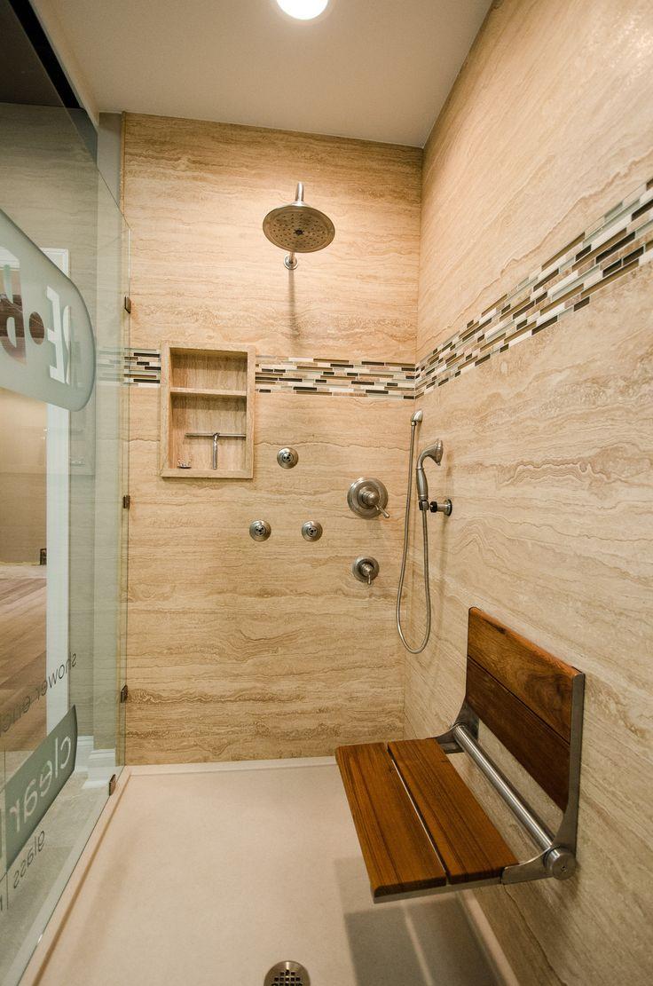 Showroom 0744 Glass Shower Shower Seat Huge Shower