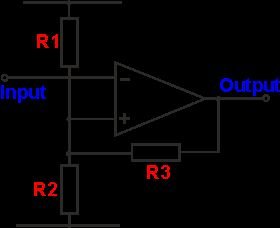 Operational amplifier Schmitt trigger circuit diagram
