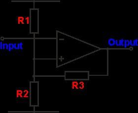 Operational amplifier Schmitt trigger circuit diagram