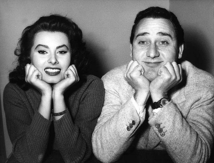 Alberto Sordi e Sophia Loren