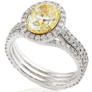 Carrie Underwood's ring it probably one of my dream rings, the yellow diamond makes it perfect