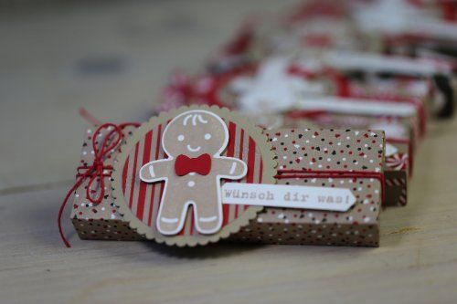 gift cookie cutter gingerbread man embellishment christmas Pick Up Verpackung, gebastelt mit Produkten von Stampin' Up!